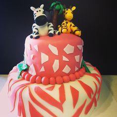 Jungle Themed Baby Shower Cake FB: http://www.facebook.com/bstardesserts