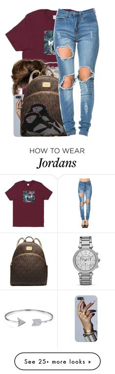"""Set For myaa-jnaee"" by nasiaamiraaa on Polyvore featuring MICHAEL Michael Kors, Bling Jewelry, BP. and NanaOutfits"