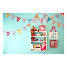 Hot Pink and Aqua Nursery From Caden Lane found on Polyvore