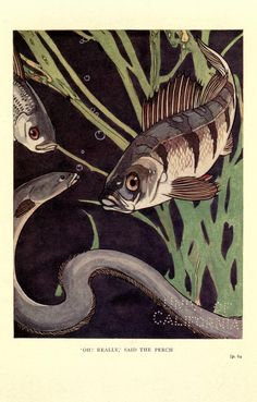 "Illustration by Warwick Reynolds, from Carl Ewald's ""The Pond"" (London: Thornton Butterworth, 1922)."