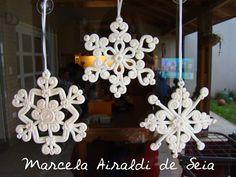 snowflakes, copos de nieve, polymer clay