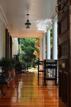 beautiful porch flooring