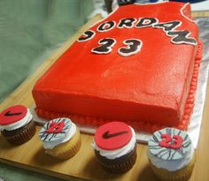 Michael Jordan Themed Cake & Cupcakes by Pretty.Little.Things, via Flickr
