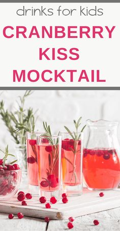 You will love this Cranberry Kiss Mocktail Recipe (non-alcoholic cocktail). With club soda, cranberry juice, fresh cranberries, and a splash of orange juice, this sparkling mocktail is perfect for any holiday season. Cranberry Cocktail, Cranberry Juice, Orange Juice, Pineapple Juice, Lime Juice, Club Soda Drinks, Juice Drinks, Cocktail Party Food, Amigurumi
