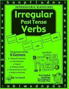 Irregular Past Tense Verb GameIrregular Past Tense Verb Game- English Grammar and Vocabulary Unit Plan is filled with teaching ideas, activitie...
