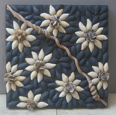 Image result for seed mosaics Diy Home Crafts, Handmade Crafts, Fun Crafts, Paper Crafts, Seashell Art, Seashell Crafts, Shell Animals, Toilet Paper Art, Pistachio Shells