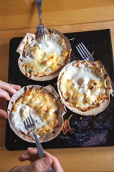 For this classic French preparation, scallops are broiled with mushrooms in a cream sauce topped with bubbling cheese.