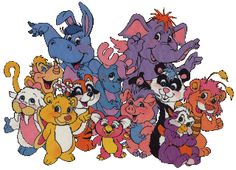 The Wuzzles - My favorite is Woolrus, half lamb, half walrus (far left, front); I have a stuffed animal of him.  I have a recording of my mom reading a Wuzzle book with me when I was 4...LOVE.