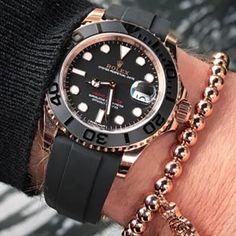 Rolex Watches Collection For Men : Rolex Yacht-Master 40 116655 - Yatch Fotos Rolex Watches For Men, Luxury Watches For Men, Cool Watches, Men's Watches, Dream Watches, Casual Watches, Fashion Watches, Black Rolex, Rolex Cellini