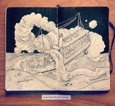 Illustrated Interview with Jared Muralt, Via iGNANT.de #Sketchbook #Interview #Illustration #Ilustración #Entrevista