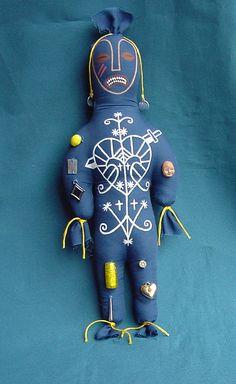 Hoodoo Magick Rootwork: Erzulie Dantor Voodoo #Hoodoo Art Doll With Herbs, by Creepystuff.