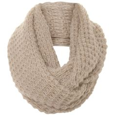 A|Wear Ecru Interlock Knit Snood ($15) ❤ liked on Polyvore featuring accessories, scarves, bufandas, hats, ecru, knit snood, snood scarves, knit scarves and knit shawl