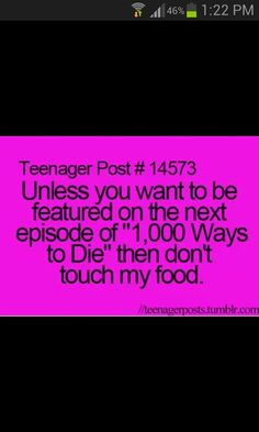 Don't touch my food