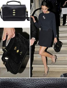 Alexa Chung with the Mulberry Bryn in black
