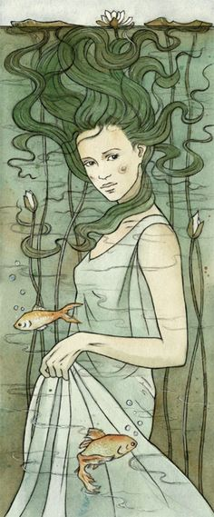 Underwater mistress. beautiful as the lady of the lake