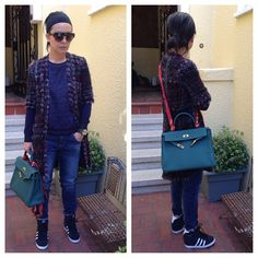 Before the heat kicked in. Ugh..enough with this Indian Summer.  #tomford #sunnies #chanel #jacket #zara #sweatshirt #hermes #cdc #collierdechien #mossimo #skinnyboyfriend #jeans #hermes #malachite #35kelly #twilly #adidasoriginals #wedgesneakers #hightops #kicks #sneakers #msneakerpimp #blogger #style #mystyle #fashion #ootd #instagood #wearingnow #whatiwore #pictureoftheday #photooftheday