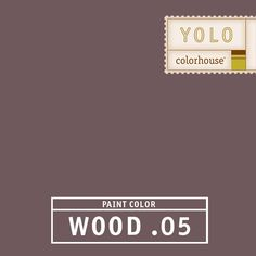 YOLO Colorhouse WOOD .05 - Magnificent and powerful-  a stormy sky just before it breaks open. Set this color off with black and white tile in a powder room or add the shimmer of metallics in a dining room.