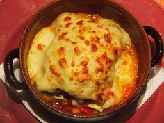 Lasaña de verduras y queso feta. Verás qué rica te queda