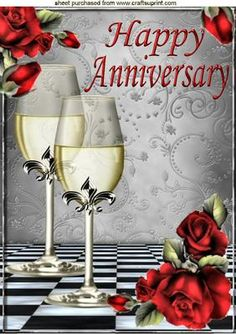 RED ROSES AND CHAMPAGNE FOR A ANNIVERSARY A4 on Craftsuprint designed by Nick Bowley - RED ROSES AND CHAMPAGNE FOR A ANNIVERSARY A4, Makes a lovely card, lots of other designs to see, Also can be seen in A5 - Now available for download!