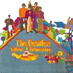 yellow submarine, i got the whole set of Peter Max school supplies for my 8th grade year....the 3-ring notebook was background yellow as i remember......