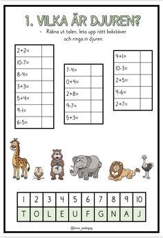 4 sidor med lilla plus och lilla minus + facit Preschool Math, Teaching Math, Teaching Ideas, Workout For Beginners, Beginner Exercise, Teacher, Education, Inspiration, Biblical Inspiration