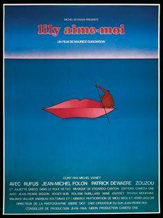 """Jean-Michel Folon – Affiche du film """"Lily aime-moi"""" (1975)"""