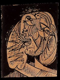 'weeping woman' by pablo picasso Pablo Picasso, Picasso Guernica, Picasso Drawing, Picasso Art, Picasso Paintings, Oil Paintings, Trinidad, Picasso Portraits, Cubist Art