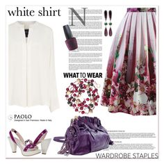 """""""Wardrobe Staples: The White Shirt"""" by spenderellastyle ❤ liked on Polyvore featuring Chicwish, Derek Lam, Dana Rebecca Designs, OPI, Chanel and WardrobeStaples"""