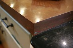Counter Tops With White Cabinets Mirror counter tops diy simple.Counter Tops With White Cabinets Mirror. Copper Countertops, Butcher Block Countertops, Laminate Countertops, Kitchen Countertops, Butcher Blocks, Kitchen Cabinets, Rustic Kitchen, Kitchen Decor, Kitchen Design