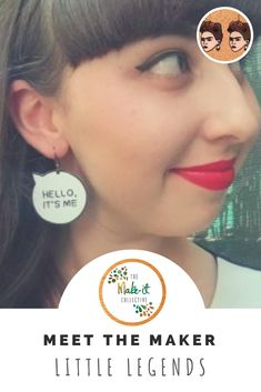 Little Legends wearable art is a collection of hand-drawn novelty pop culture earrings handmade by Melbourne-based maker Holly Flynn. The Make, How To Find Out, How To Make, Earrings Handmade, Handmade Jewelry, Shrink Plastic, Oven Baked, Jewelry Branding, Wearable Art
