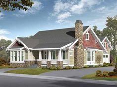Eplans Craftsman House Plan - Great Plan for Alley Access With Mother-In-Law Suite - 2570 Square Feet and 5 Bedrooms(s) from Eplans - House Plan Code HWEPL14147