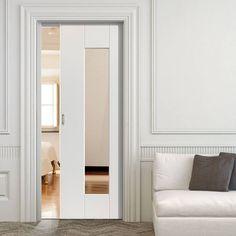 Image of: Single Sliding Pocket Doors