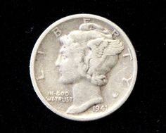 1941S Good or Better Mercury Dime! 90% Silver!  . Starting at $1