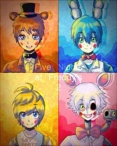 Five Nights at Freddy's 2 as humans!