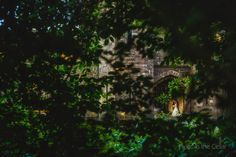 Peckforton Castle wedding photography. Cheshire castle wedding venue, taking in the surrounding greenery with a hint of bride and groom :)