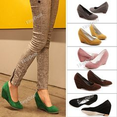 Stylish Frosted Leather High-heeled Pumps Wedge-soled Shoes for Lady Girl  http://www.tinydeal.com/index.php?main_page=index&cPath=1056&sk=22126987pv