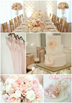 Is this our color palette? Looks so pretty! Plan My Wedding, Our Wedding, Dream Wedding, Wedding Ideas, Wedding Things, Wedding Stuff, Wedding Gowns, Wedding Decorations, Pink And White Weddings