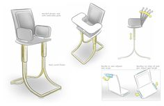 Sketches by Jeffrey Smith, via Behance Industrial Design Sketch, Furniture Sketches, Concept Art, Product Sketch, Behance, Product Design, Sketching, Illustration, Objects