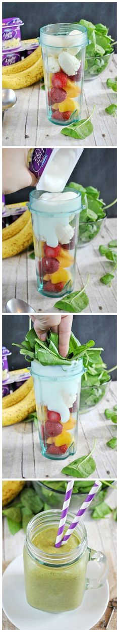 Easy Green Smoothie | www.somethingswanky.com