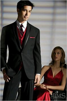 Tuxedo idea for black red and white wedding