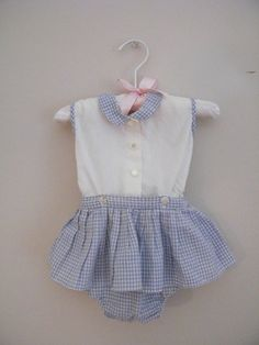 Vintage 1950s 2 Piece Baby Outfit