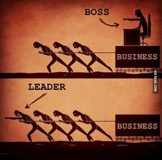 "Bad Bully Boss versus Good ""Leader"" Boss....  The first creates little but fear and sadness and poor work product.....The latter is the positive guiding force to a good working environment and an excellent work product."