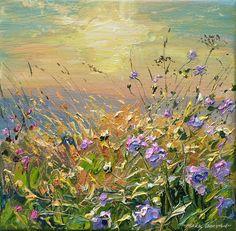 'Summer Sundown, Bonsall Moor' by Mark Preston. Part of his two man exhibition with Rex Preston, opening at gallerytop on 3 October 2015