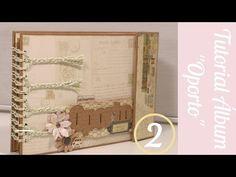 Scrapbooking. Álbum Oporto (parte2).Como hacer bolsillos múltiples y usar imánes.Tutorial Scrapbook - YouTube