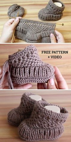 Freie strickmuster knitting patterns knit warm baby booties free knitting pattern + video knitting pattern baby booties free freiestrickmuster knit knitting pattern patterns video warm how to knit fruit citrus slices with free pattern + video Baby Booties Knitting Pattern, Crochet Baby Booties, Knitted Baby Boots, Knit Baby Shoes, Knitted Booties, Knitted Dolls, Knit For Baby, Baby Boots Pattern, Baby Bootees