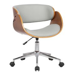 Features:  -Ships in one box.  -Versatile design.  Product Type: -Desk Chair.  Base Finish: -Chrome.  Hardware Finish: -Chrome.  Base Material: -Metal.  Hardware Material: -Stainless steel. Dimensions