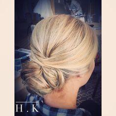 wedding hair for fine blonde hair.  Pageant hair or a Bridal updo. Blonde hair. #updos #wedding #bridal