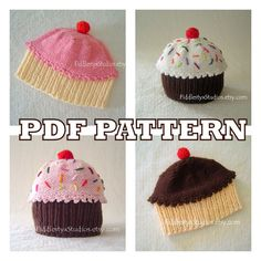 KNITTING PATTERN  Baby Cupcake Hat PATTERN by FiddlestyxStudios, $5.50