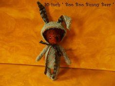 Mohair Bear with Bunny Costume Original OOAK by KarynRuby on Etsy, $119.00 #handmade