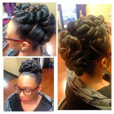 My cousin is rocking her natural hair. Love this style!